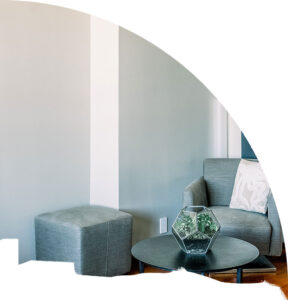 residential interior room with new wall paint
