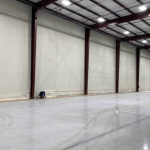 interior commercial building with new paint job