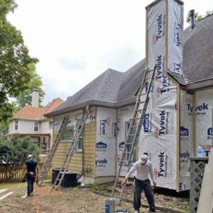 exterior construction and paint remodel