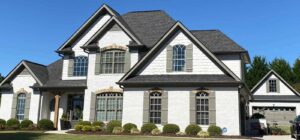 large house with new exterior paint